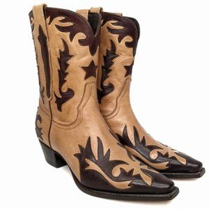 Charlie 1 Horse Inlaid Leather Western Boots 8.5
